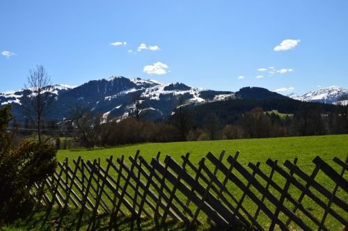 wood fence kitzbühel spring