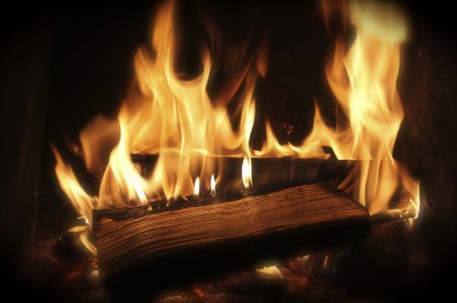fire wood fire combustion