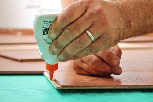 wood glue work laminate