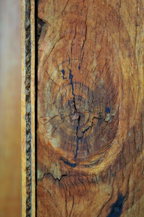 Wood Panel With Grain Pattern