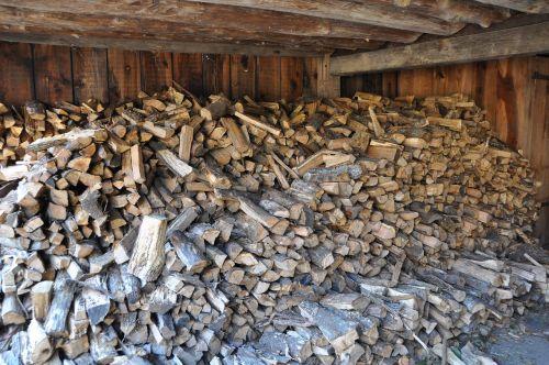 wood pile barn wood