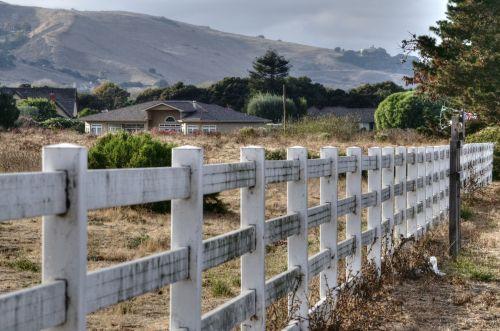 Wood Rail Fence On Ranch