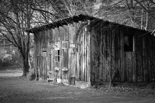 wood shed scale old