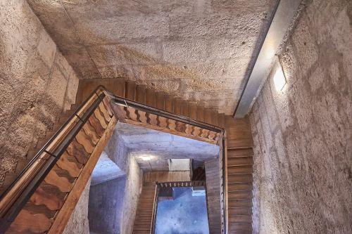 wood stairs steeple antique