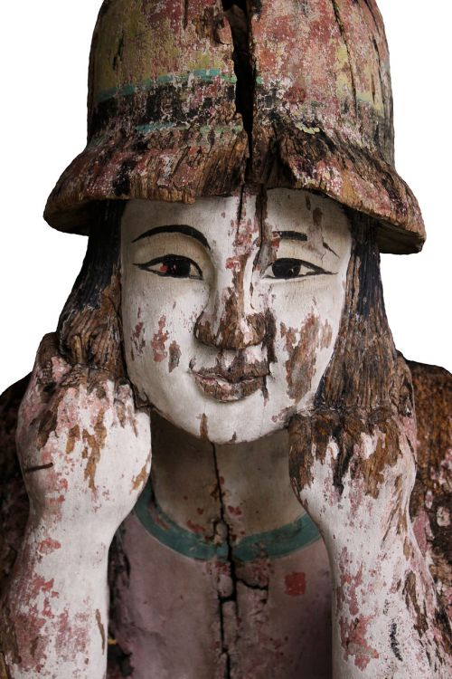 wood statue sculpture statue