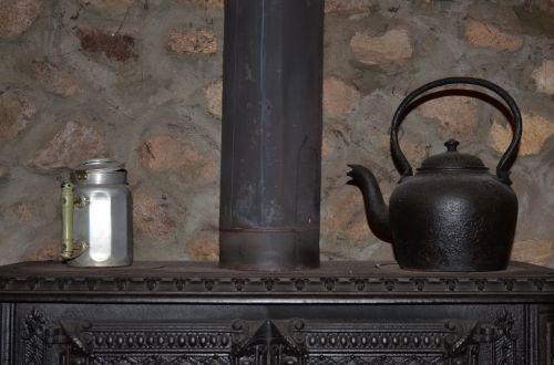 wood stove pot kettle