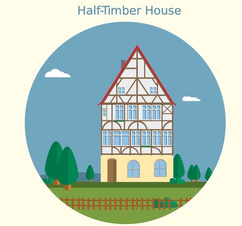 wood truss  fachwerkhaus  house