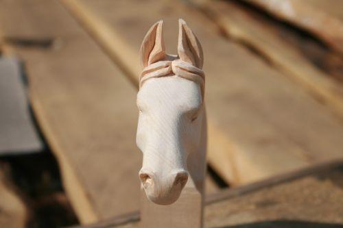 woodcarving horse mongolia