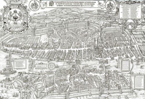 woodcut city map
