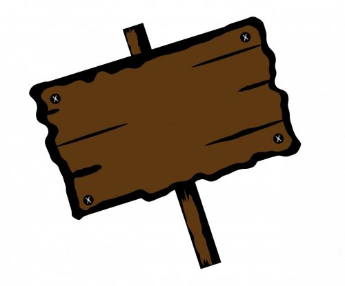 wooden wood sign