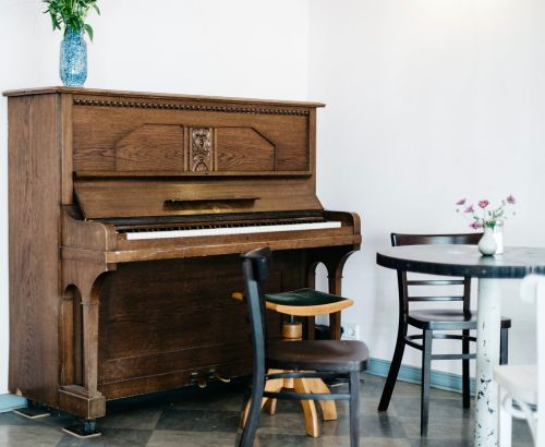 wooden furniture piano