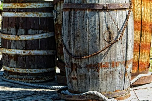 wooden kegs ancient