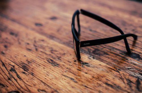wooden table eyewear
