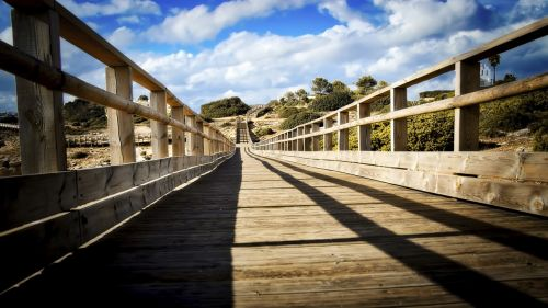 wooden runway catwalk