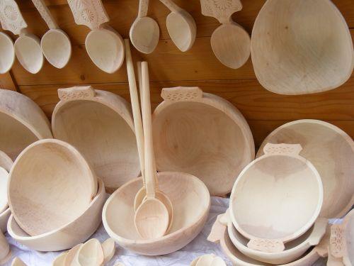 wooden utensils kitchenware