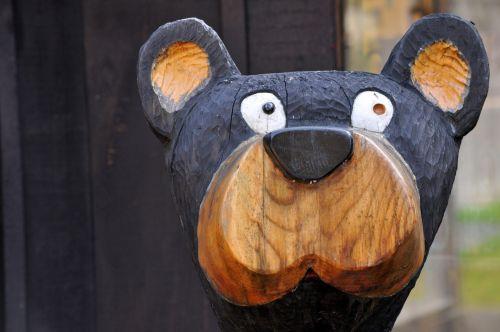 Wooden Bear Sculpture