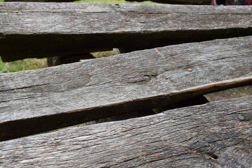 wooden bench old rustic