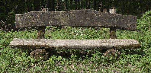wooden bench  old bench  weathered