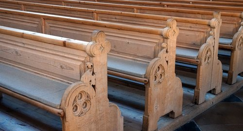 wooden benches  church  old