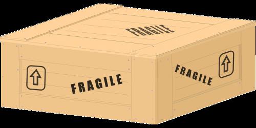 wooden box fragile box
