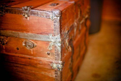 wooden box treasure box chest