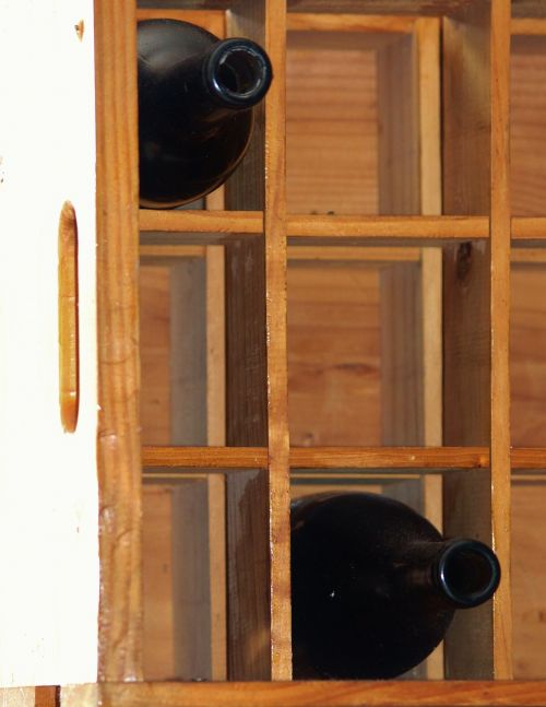 wooden box wine wine rack
