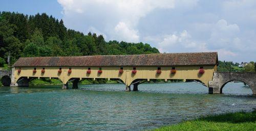 wooden bridge customs bridge covered wooden bridge