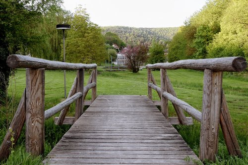 wooden bridge  strains  idyllic