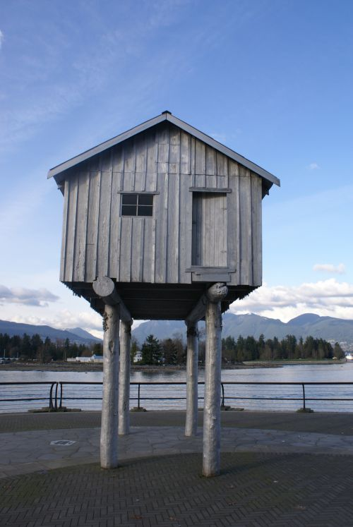 Wooden Cabin On Stilts