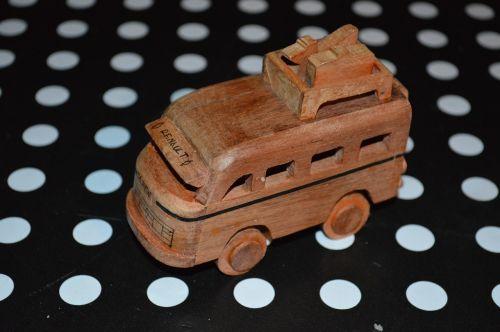wooden car miniature wood