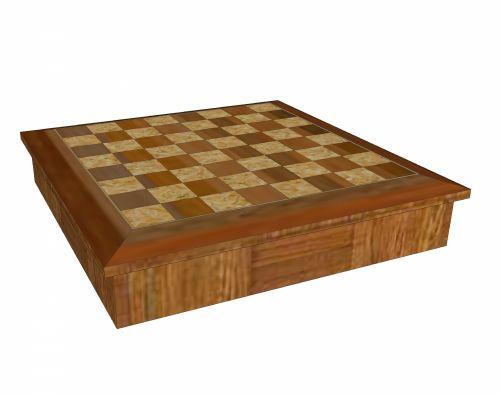 Wooden Checker-board