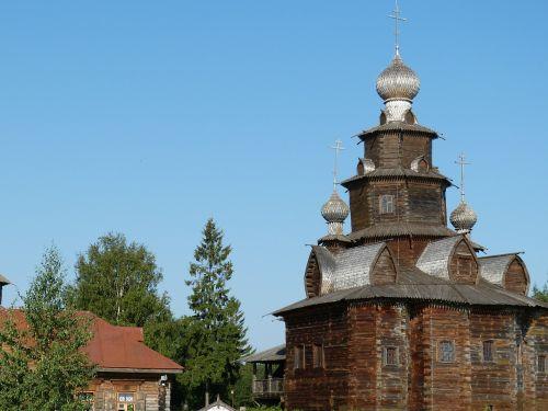 wooden church church russia