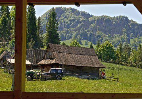 wooden construction hut wooden cottage