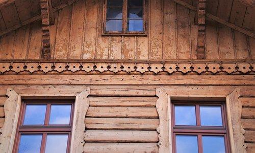 wooden cottage  boards  old