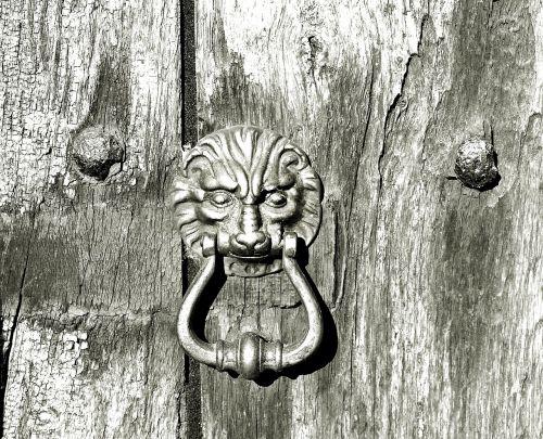 wooden door old wooden door doorknocker