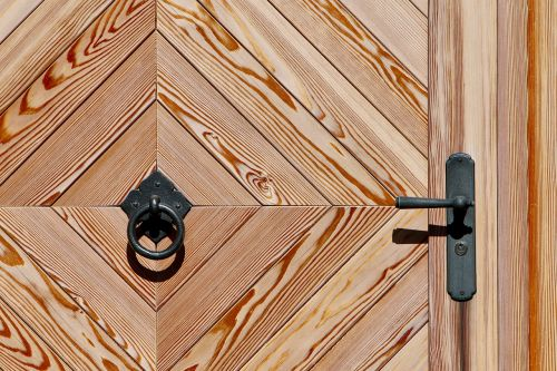 wooden door call waiting ring presser