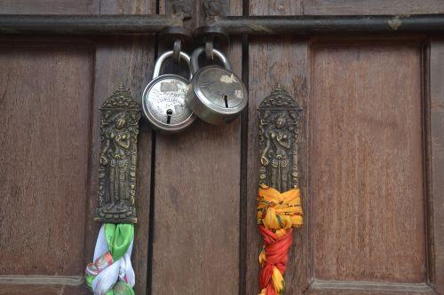 wooden door castles indian deities