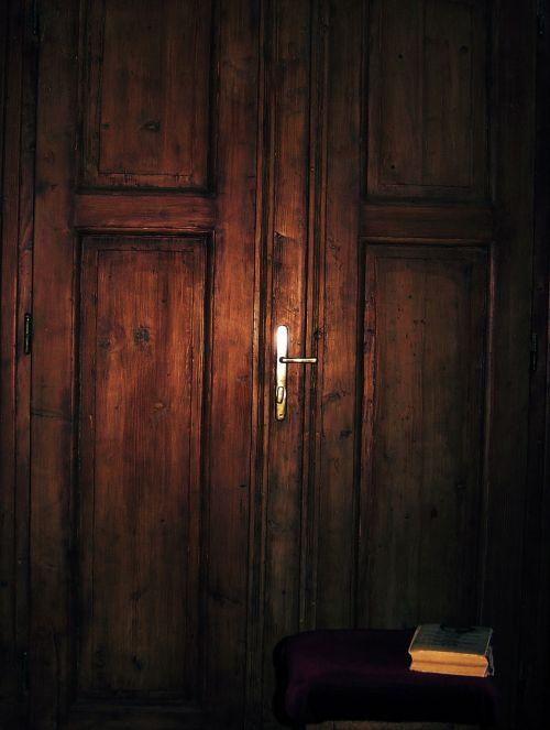 wooden door entrance inside