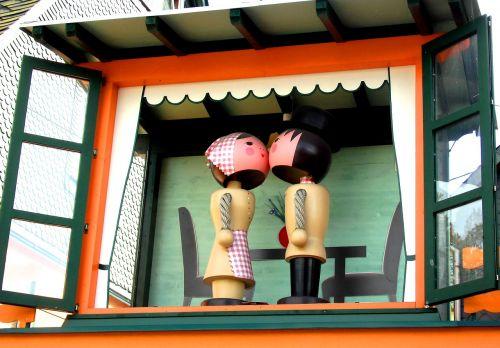 wooden figures man woman