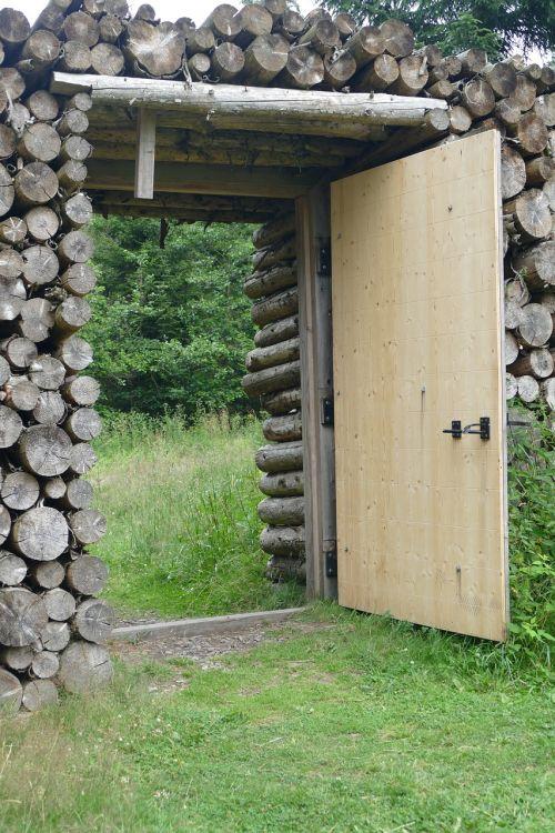 wooden gate door by looking