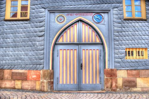 wooden gate goal town hall