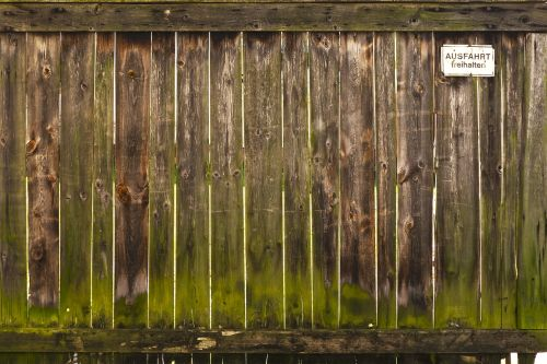 wooden gate boards rustic