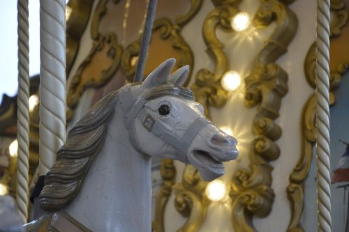 wooden horse manege carousel