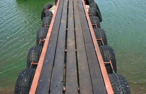 Wooden Jetty Over Water