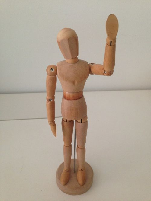 wooden man man figure