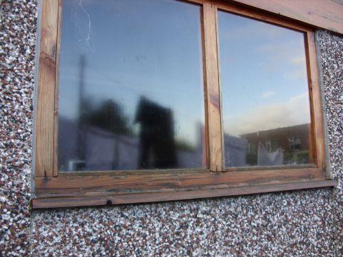 medinis & nbsp, langas, langas, garažas & nbsp, langas, Outbuilding & nbsp, langas, harlingas, atspindys, lange & nbsp, stiklas, medinis pastato langas