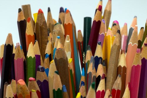 wooden pegs pens colorful