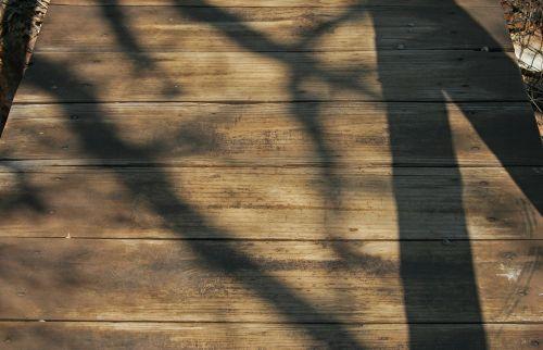 Wooden Planks On Walkway