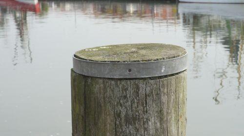 wooden posts bollard water