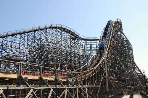 wooden roller coaster ride vintage